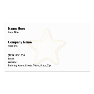 Iced Star Cookie. Yellow and White. Business Cards