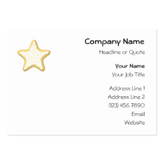 Iced Star Cookie. Yellow and White. Business Card Templates
