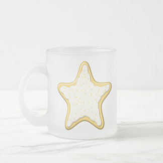 Iced Star Cookie. Yellow and White. Coffee Mug