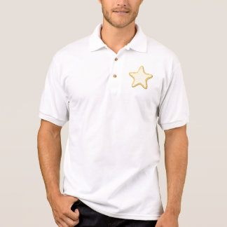 Iced Star Cookie. Yellow and White. Polo T-shirt
