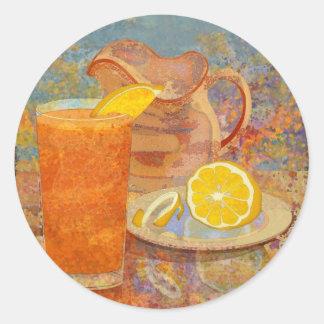 Iced Tea Classic Round Sticker