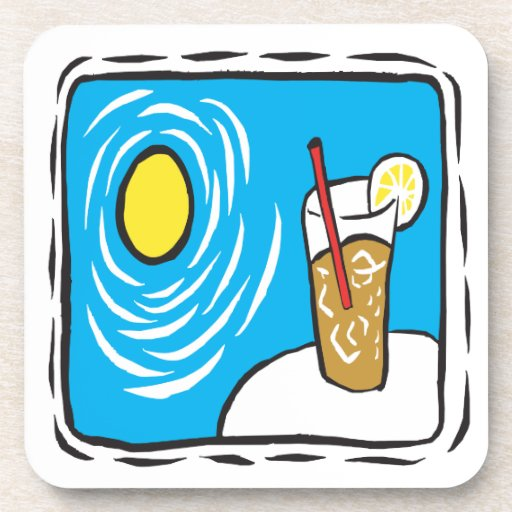 Iced Tea Drink Coaster