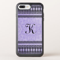 Iced Violet Lace Trimmed Phone Case
