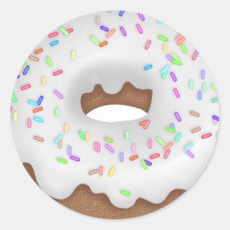 Iced White Sprinkled Bakery Donut sticker