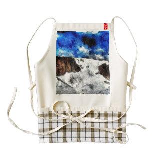 Icefall like a waterfall zazzle HEART apron