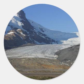 Icefields Parkway Glaciers Snow Canada Round Sticker
