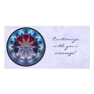 IceFire Mandala Photo Card