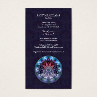 IceFire Mandala Vertical Business Card