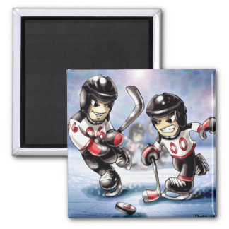 icehockey 2 inch square magnet