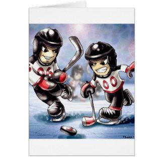 icehockey stationery note card