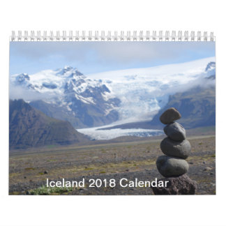 Iceland 2018 Calendar by Rauno Joks