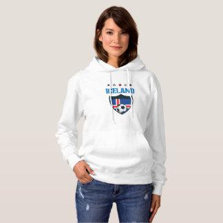 Iceland 2018 World Football 2018 - Iceland Flag Hoodie