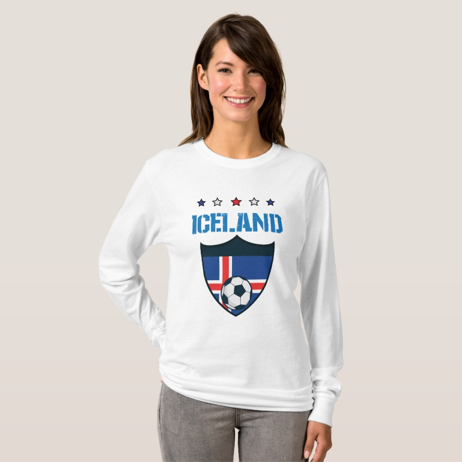 Iceland 2018 World Football 2018 - Iceland Flag T-Shirt - Best Selling Long-Sleeve Street Fashion Shirt Designs