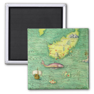 Iceland 2 Inch Square Magnet