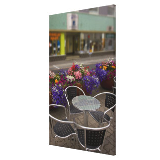 Iceland, Akureyri. View of the main business Canvas Print
