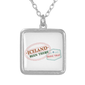 Iceland Been There Done That Silver Plated Necklace