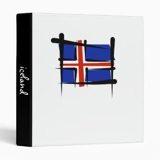 Iceland Brush Flag 3 Ring Binder