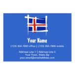 Iceland Brush Flag Large Business Cards (Pack Of 100)