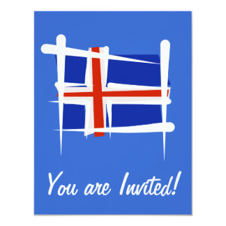 Iceland Brush Flag Card
