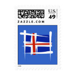 Iceland Brush Flag Postage Stamps