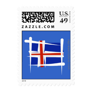 Iceland Brush Flag Postage Stamps