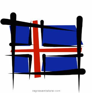 Iceland Brush Flag Statuette