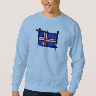 Iceland Brush Flag Sweatshirt