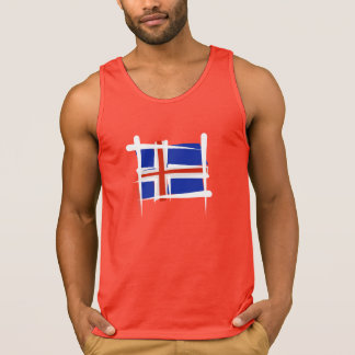 Iceland Brush Flag Tank Top