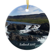 Iceland - ceramic ornament