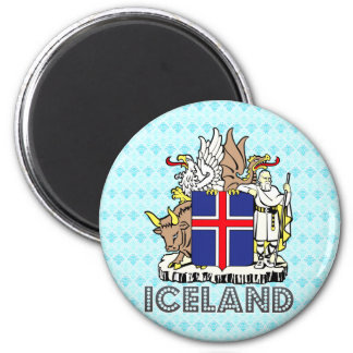 Iceland Coat of Arms 2 Inch Round Magnet