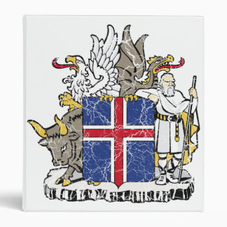 Iceland Coat Of Arms Binders