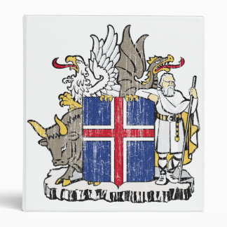 Iceland Coat Of Arms 3 Ring Binders