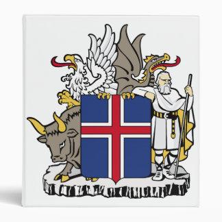 Iceland Coat Of Arms Vinyl Binders