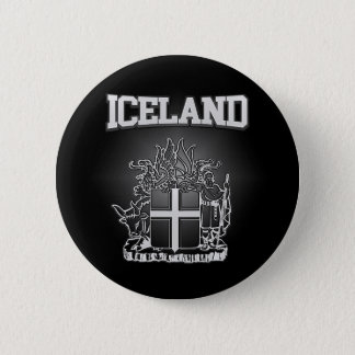 Iceland  Coat of Arms Button