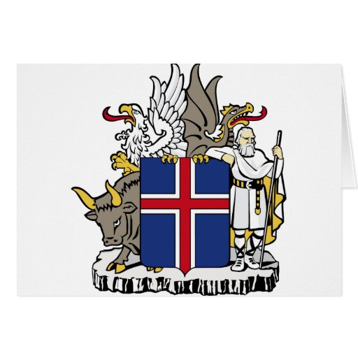 Iceland Coat Of Arms Card