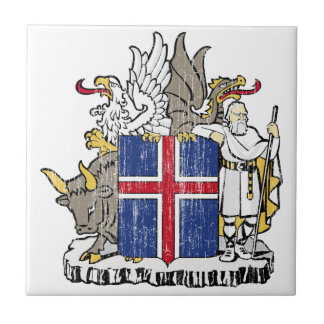 Iceland Coat Of Arms Ceramic Tile