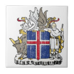 Iceland Coat Of Arms Ceramic Tiles
