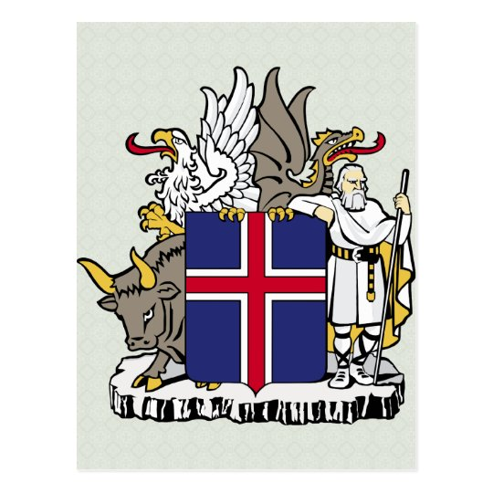 Iceland Coat of Arms detail Postcard