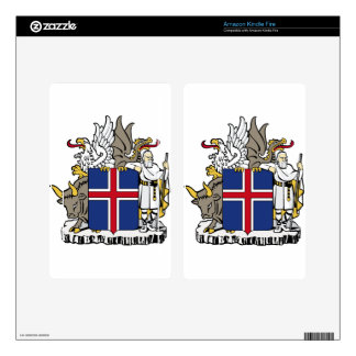 Iceland Coat Of Arms Kindle Fire Skins