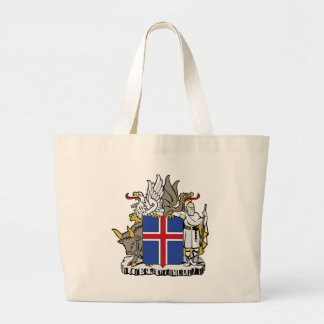 Iceland Coat of Arms Large Tote Bag