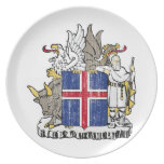 Iceland Coat Of Arms Melamine Plate