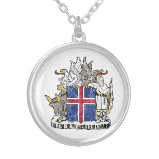 Iceland Coat Of Arms Custom Necklace
