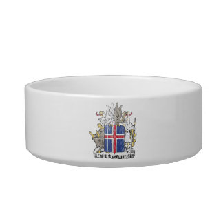 Iceland Coat Of Arms Pet Bowl