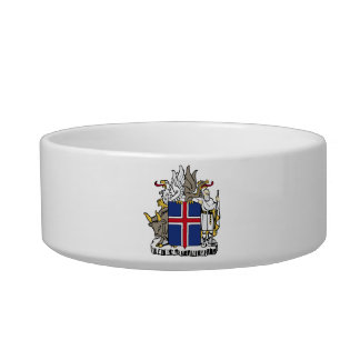 Iceland Coat Of Arms Pet Food Bowl