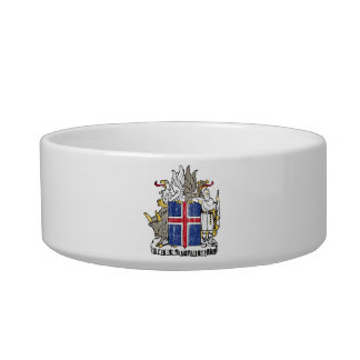 Iceland Coat Of Arms Cat Water Bowl