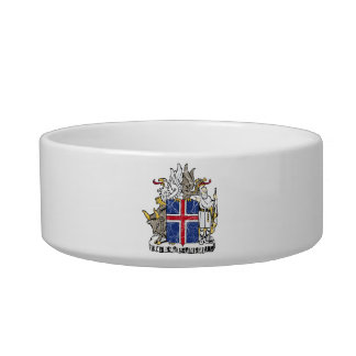 Iceland Coat Of Arms Cat Bowl