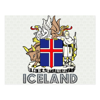 Iceland Coat of Arms Postcard