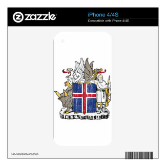 Iceland Coat Of Arms Skin For The iPhone 4