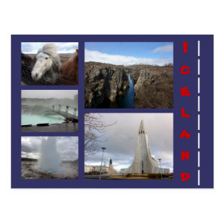 Iceland Collage 1 Postcard