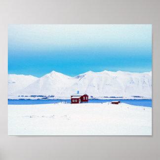 Iceland cottage poster